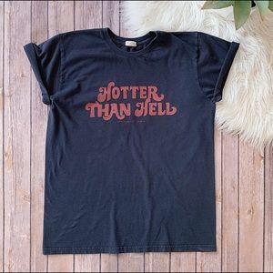 """JOHN GALT """"Hotter Than Hell"""" Tee"""